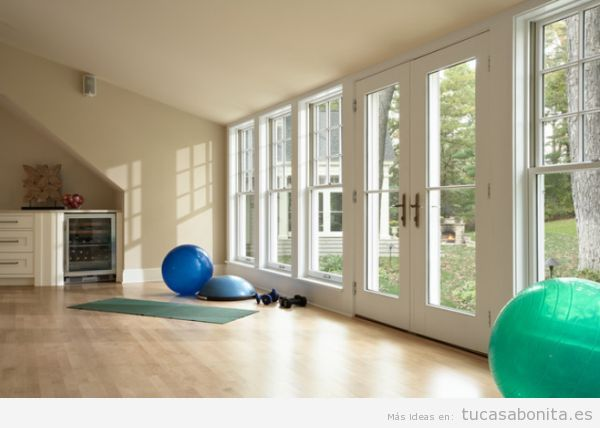 Ideas para dise ar amueblar y decorar un gimnasio o for Ideas para decorar un estudio