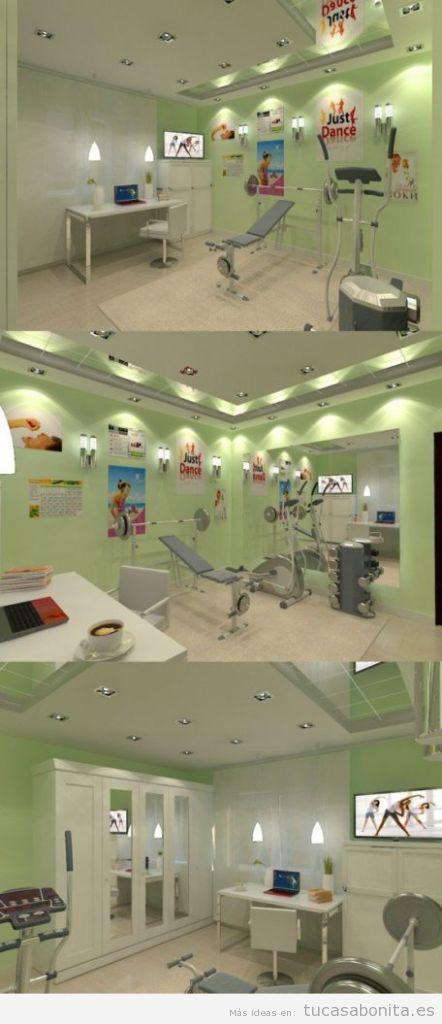 Ideas para decorar y amueblar un gimnasio en casa 7
