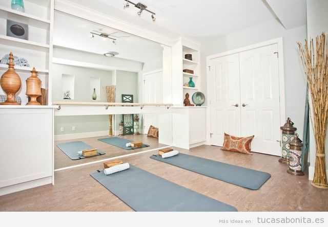 Ideas para decorar y amueblar un estudio de yoga en casa