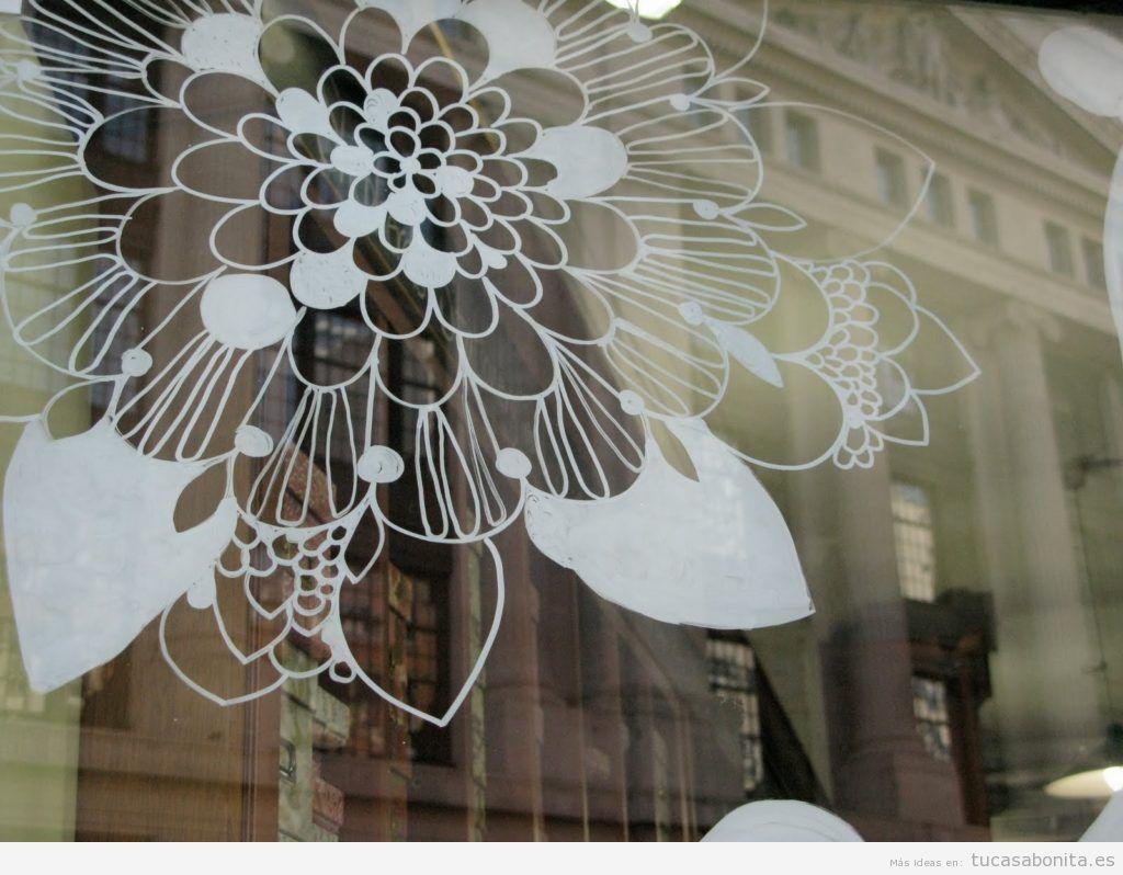 Ideas decoración ventana dibujos bonitos tiza líquida