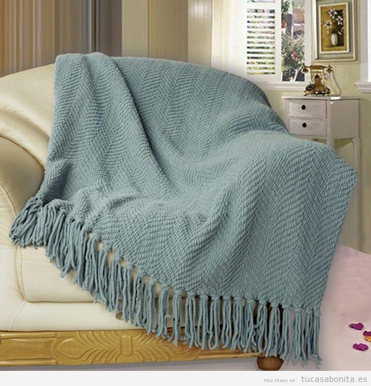 Bonita manta para sofá