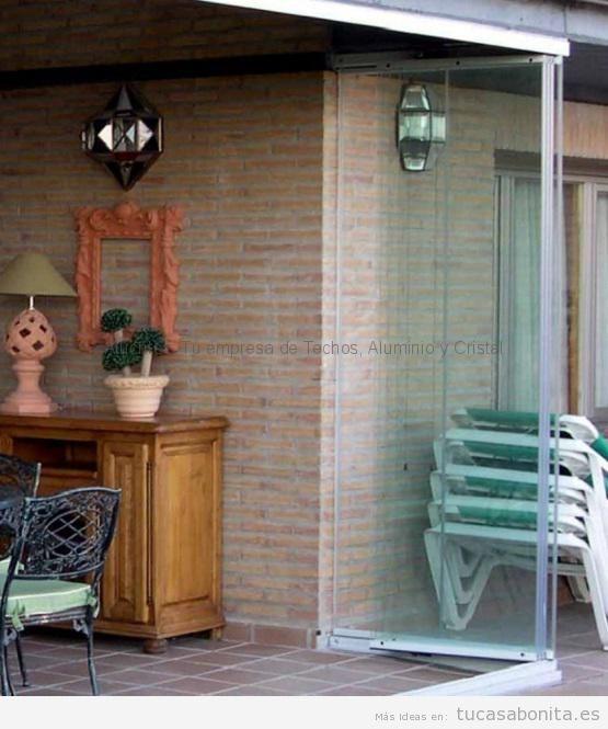 Cerramientos abatibles porches