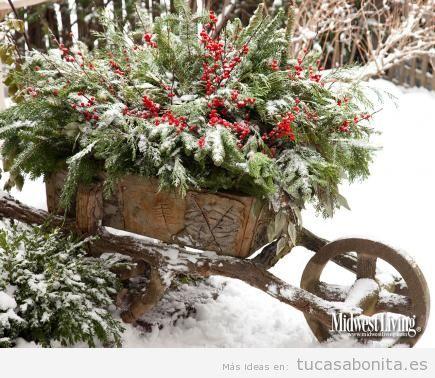 Ideas decoración jardín o patio de casa en invierno 3
