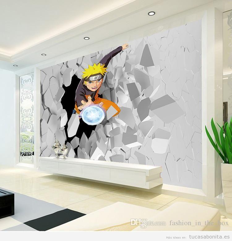 Decorar casa con mural de Naruto