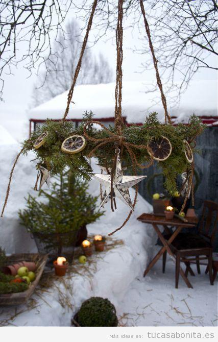 Ideas decoración jardín o patio de casa en invierno