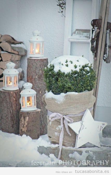 Ideas decoración jardín o patio de casa en invierno 2