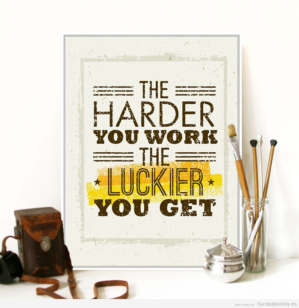 Posters motivacionales para decorar despacho
