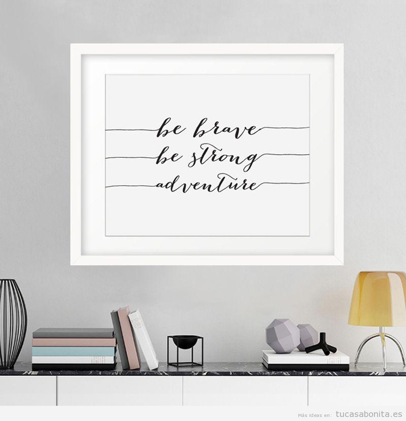 Posters motivacionales para decorar sala de estar 2
