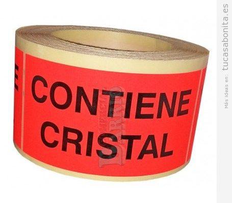Etiquetas adhesiva contiene cristal