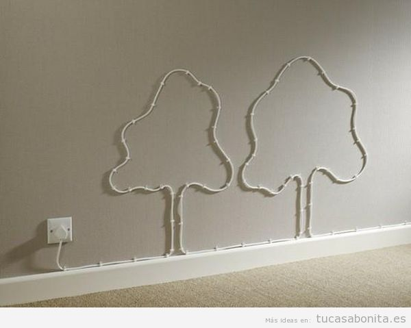 Ideas para esconder o disimular cables en la pared