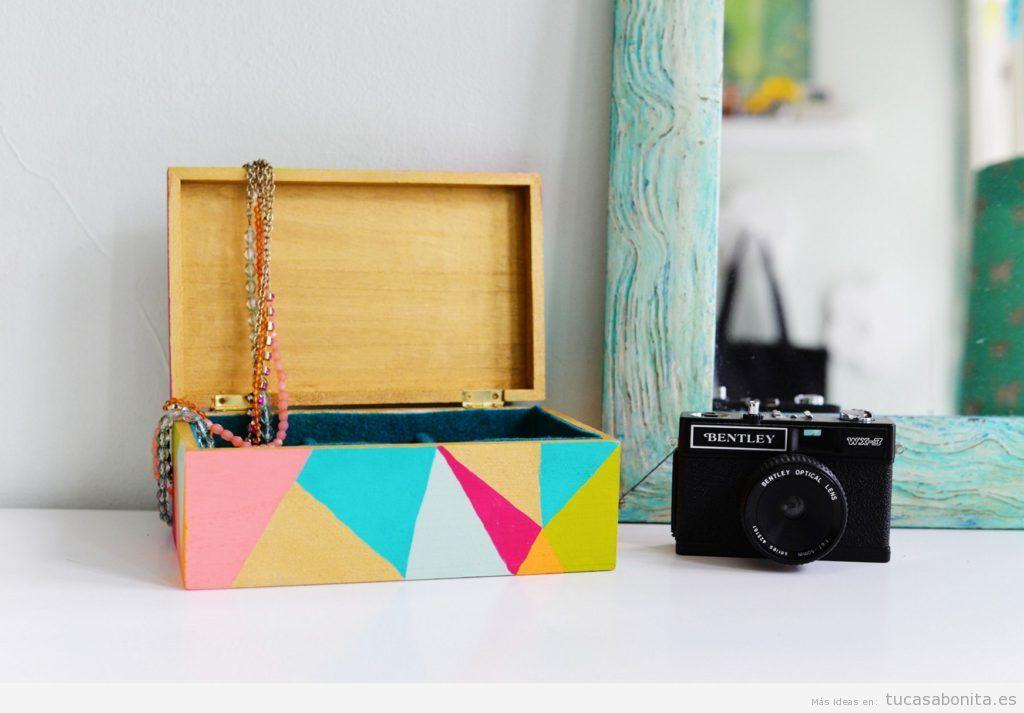 Ideas decorar tocador con cajas bonitas