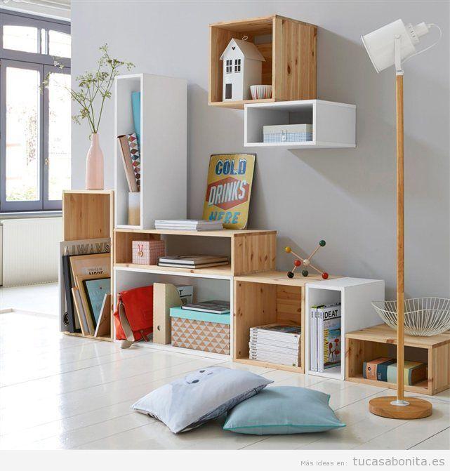 Ideas decorar salón con cajas bonitas