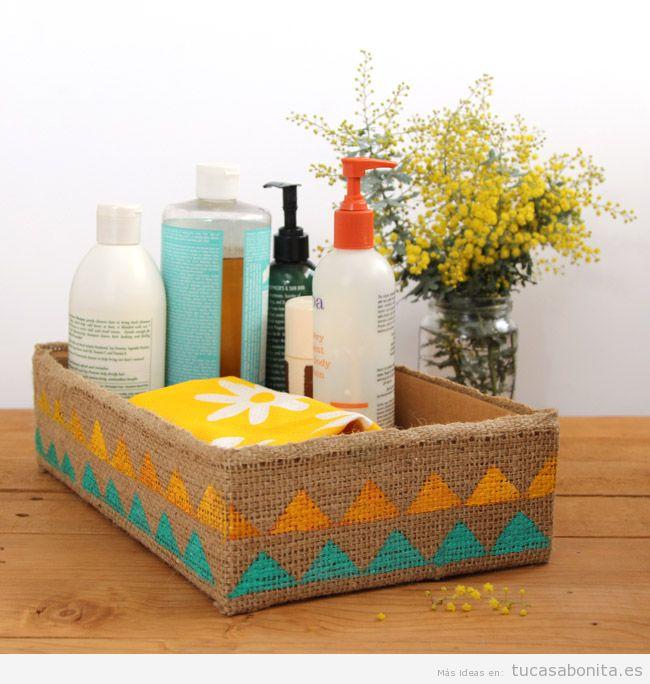 Ideas decorar baño con cajas bonitas