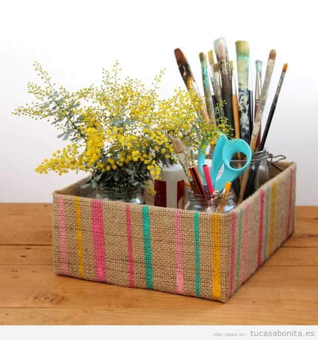Ideas decorar escritorio con cajas bonitas 3