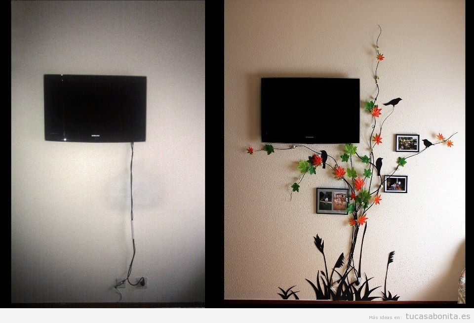 Ideas para esconder o disimular cables en la pared 7