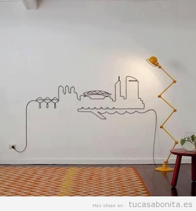 Ideas para esconder o disimular cables en la pared 6