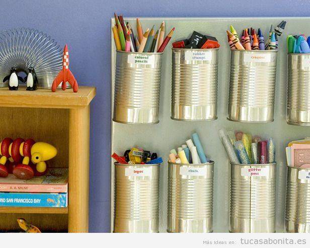 Ideas para almacenar y ordenar habitaciones para niños 4