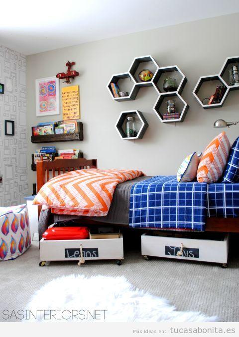 Ideas para almacenar y ordenar habitaciones para niños 7
