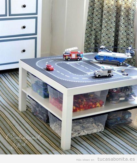 Ideas para almacenar y ordenar habitaciones para niños 2