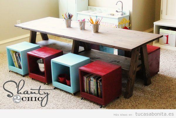 Ideas para almacenar y ordenar habitaciones para niños 3