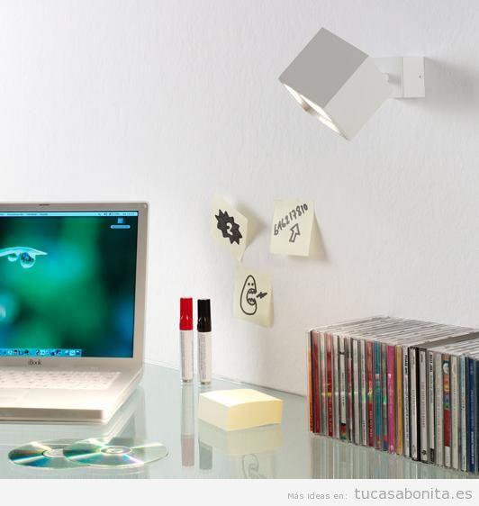 Apliques de pared ahorra espacio y gana en iluminaci n - Lamparas pared dormitorio ...