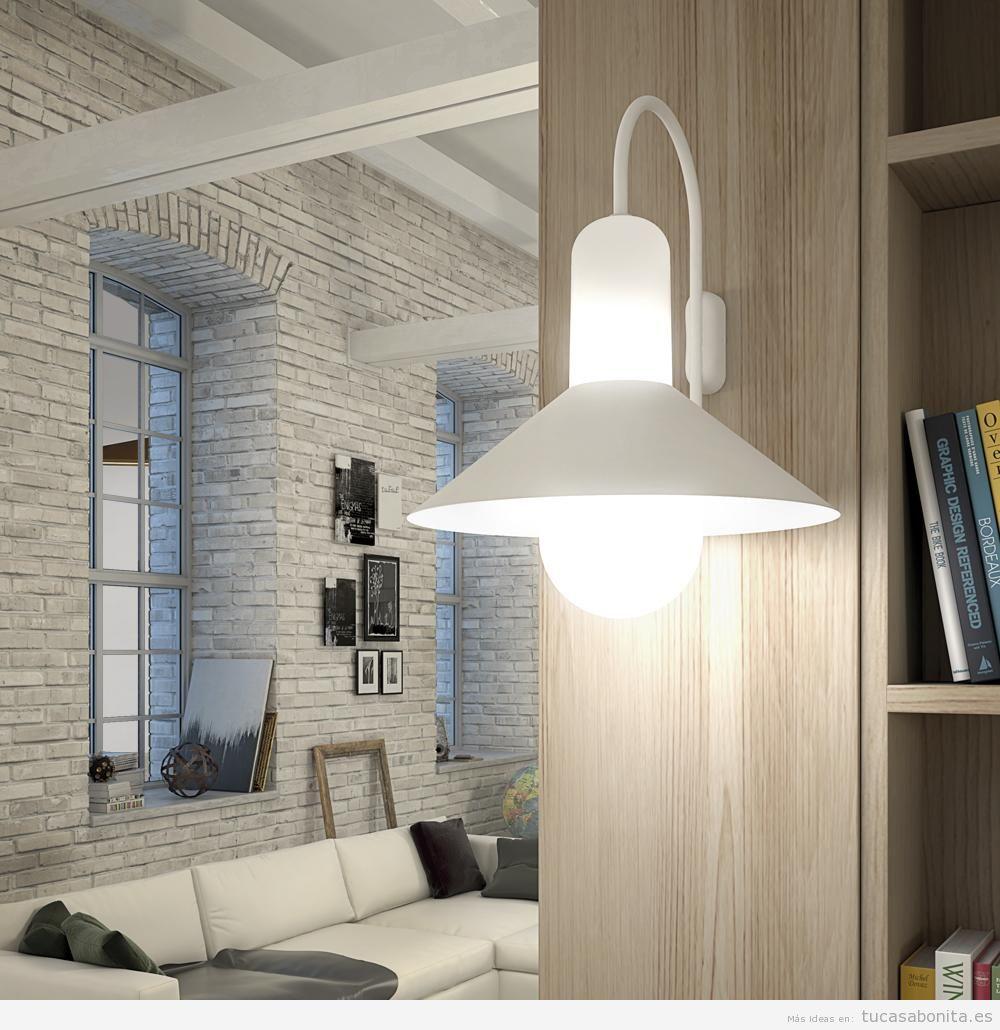 Apliques de pared ahorra espacio y gana en iluminaci n tu casa bonita - Apliques de pared clasicos ...
