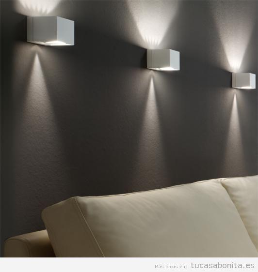 Apliques de pared, ahorra espacio y gana en iluminación - Tu casa Bonita