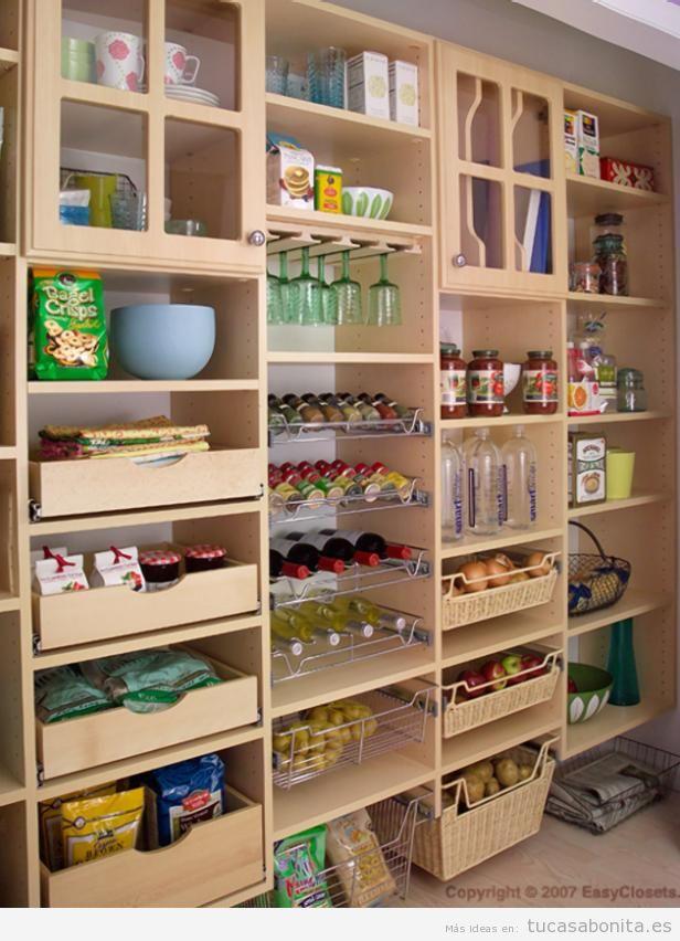 Trucos organizar una alacena en la cocina