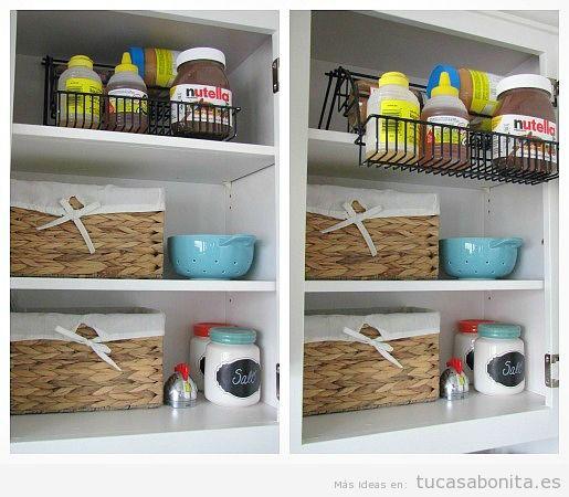Ideas y trucos para tener organizada y ordenada la cocina for Ordenar armarios cocina