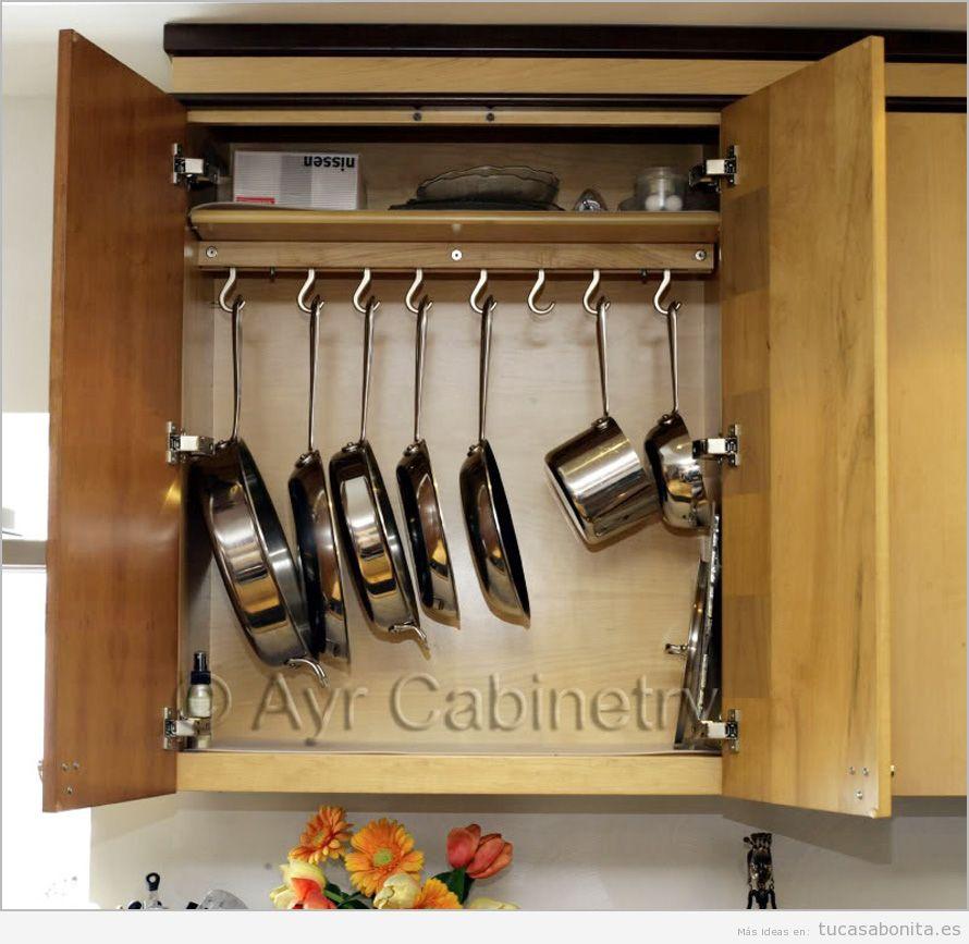 Trucos organizar las sartenes y ollas de la cocina 2