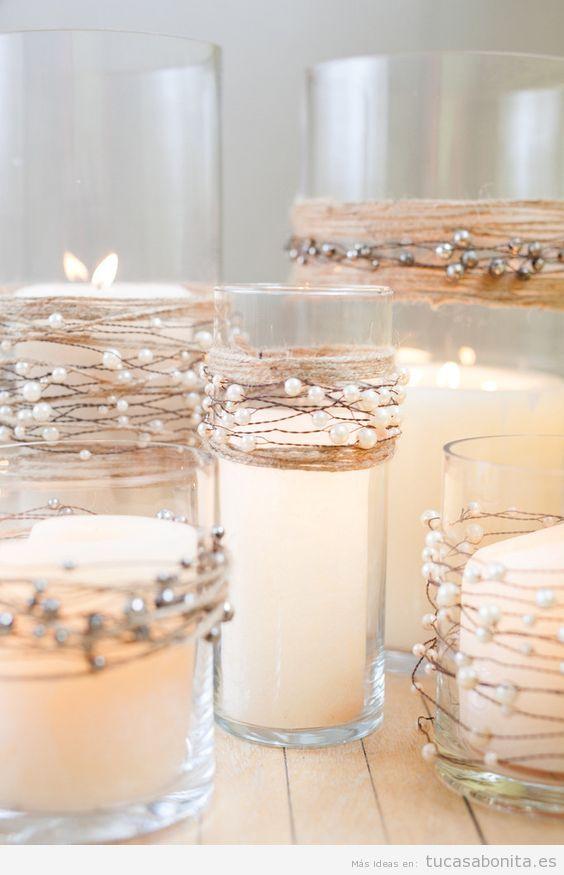 Manualidades para decorar tu casa en navidad de forma for Decoracion del hogar con velas