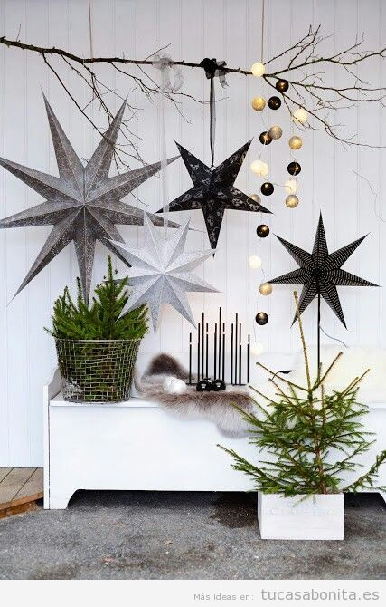 Ideas países escandinavos para decorar casa en Navidad 10