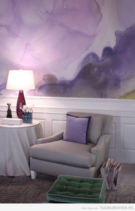 Ideas decorar paredes de casa con pintura acuarela 6
