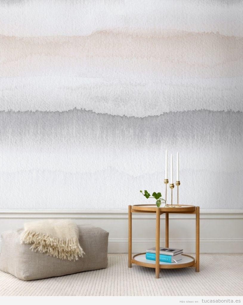 Ideas decorar paredes de casa con pintura acuarela