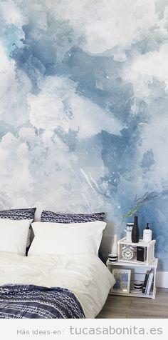Ideas decorar paredes de casa con pintura acuarela 7