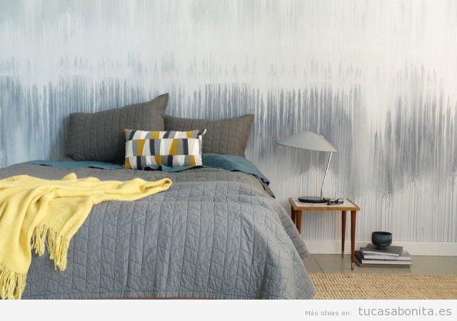 Ideas decorar paredes de casa con pintura acuarela 3