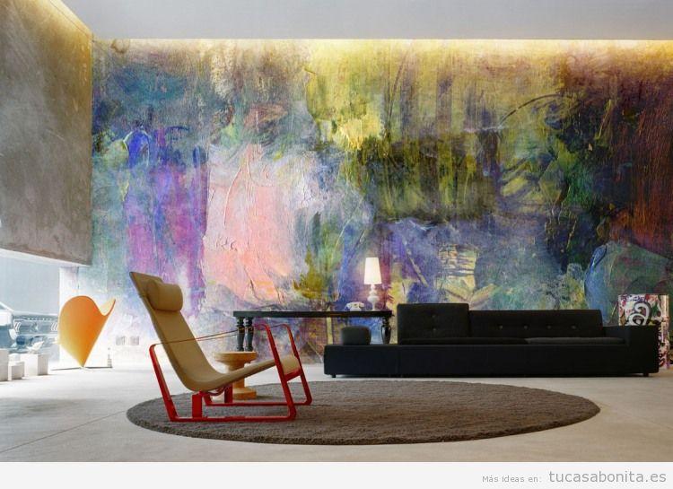 Ideas decorar paredes de casa con pintura acuarela 2