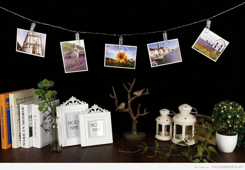Objetos originales para decorar casa, colgar fotos pinzas