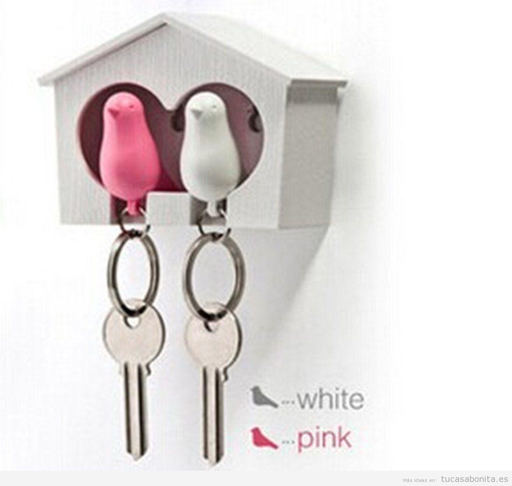 Objetos originales para decorar casa, colgar llaves