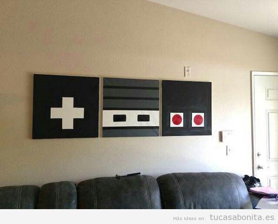 Ideas decorar casa videojuegos, mandos Nintendo