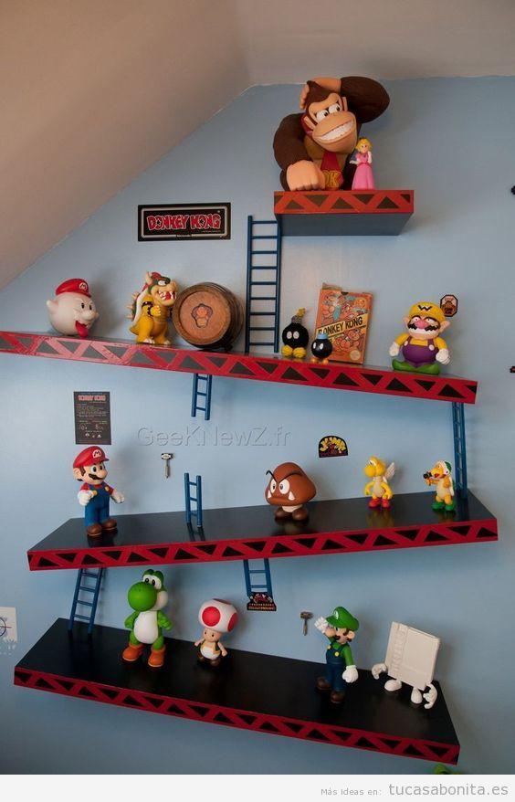 Ideas decorar casa videojuegos, paredes Mario Donkey Kong