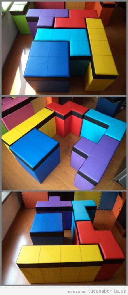 Ideas decorar casa videojuegos, sillones Tetris