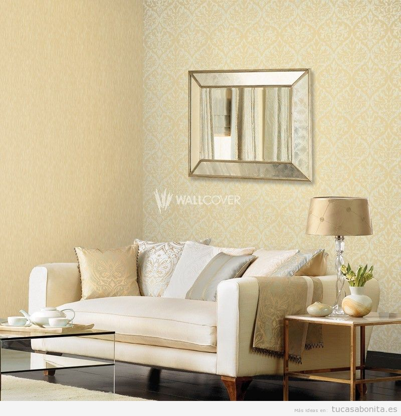 Papel pintado en salon para tu saln con papel pintado for Papel pintado salon moderno