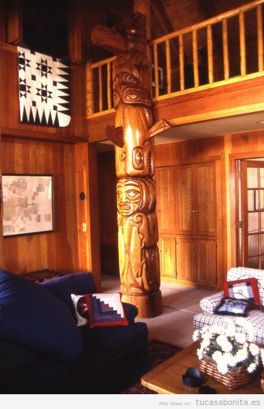 Tótem decoración de casa o cabaña
