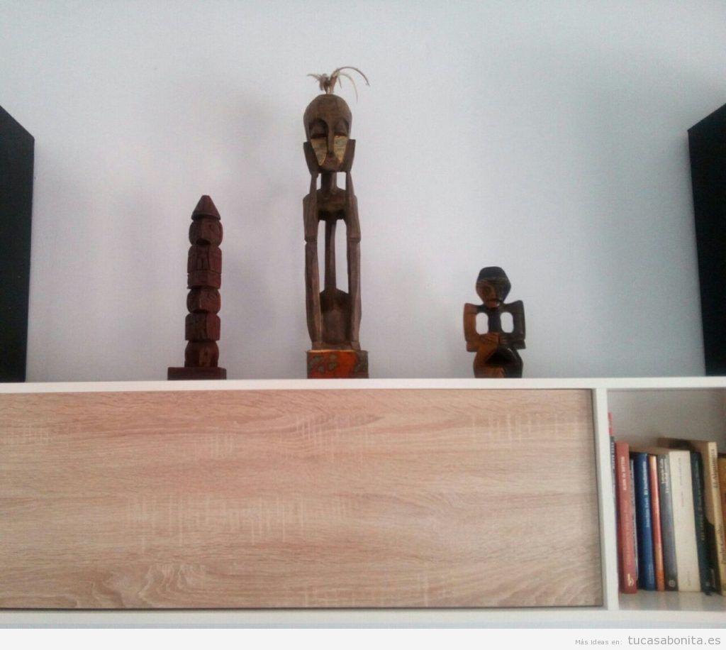 Tótem opara decorar estantería