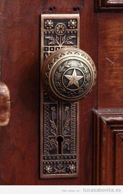 Cerraduras y pomos de puertas con preciosas decoraciones tu casa bonita - Manillas puertas antiguas ...