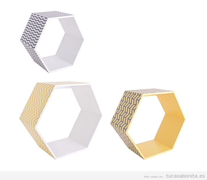 Estantería hexagonal pop del grupo Memphis baratas, outlet online