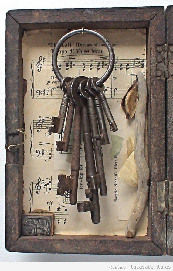 Ideas decorar casa estilo vintage con objetos antiguos, llaves