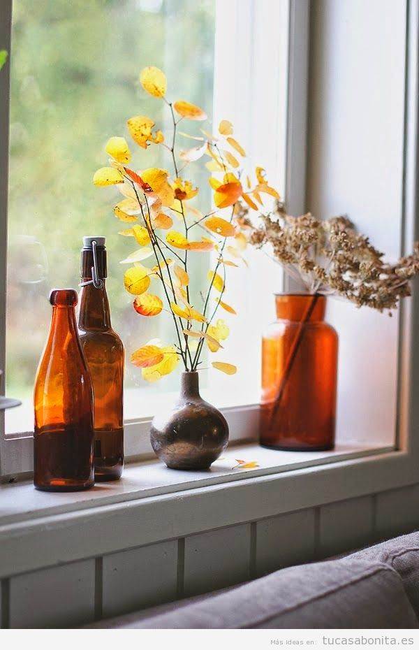 Ideas decorar casa estilo vintage con objetos antiguos, botellas