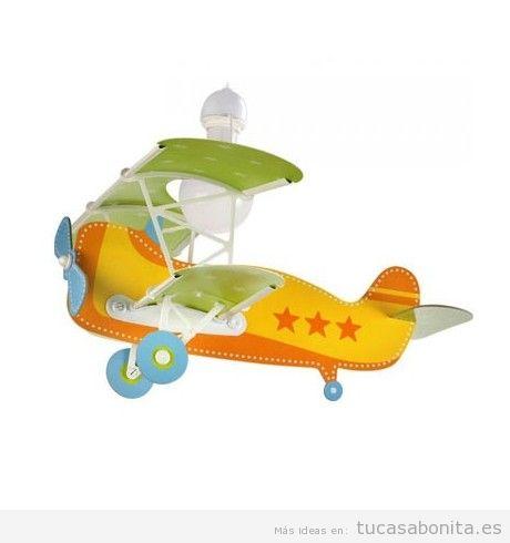 Lámpara infantil de techo avión